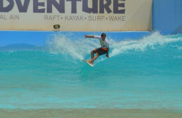 Segundo treino oficial do Surfista Arno Anhelli