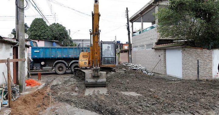 Obras de infraestrutura viária em Guarujá