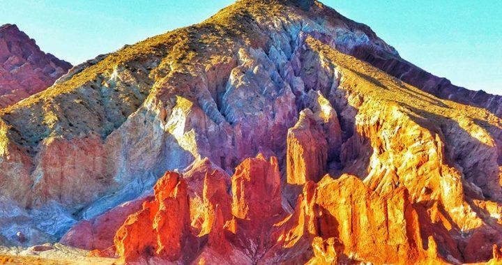 Um arco-íris nas terras do Atacama