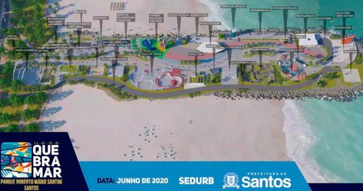 Projeto Novo para o Quebra-Mar em Santos