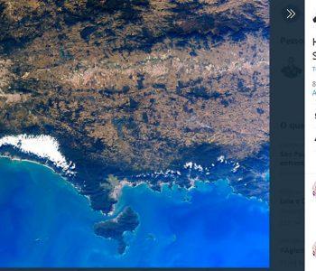 Astronauta da Nasa publica imagem do litoral norte