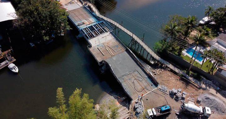 A Ponte de Barra do Una está quase pronta